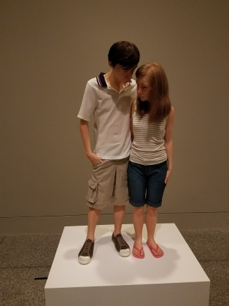Art Sculpture by artist Ron Mueck at Museum of Fine Arts Houston